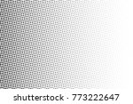 abstract monochrome halftone... | Shutterstock .eps vector #773222647