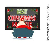 best christmas movies vector... | Shutterstock .eps vector #773232703