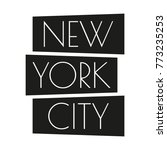 new york city typography design.... | Shutterstock .eps vector #773235253