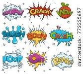 comic boom  bang wow speech... | Shutterstock .eps vector #773235697