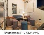 hotel lobby cafe interior   Shutterstock . vector #773246947