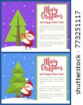 merry christmas happy new year... | Shutterstock .eps vector #773251117