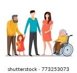 big family together. parents ... | Shutterstock .eps vector #773253073