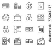 thin line icon set   card  coin ... | Shutterstock .eps vector #773268457