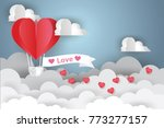 valentine's day concept.love... | Shutterstock .eps vector #773277157