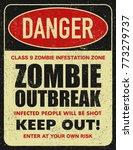 halloween warning sign danger... | Shutterstock . vector #773279737
