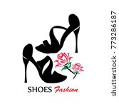 shoe logo silhouette design... | Shutterstock .eps vector #773286187
