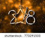 2018 happy new year background... | Shutterstock .eps vector #773291533