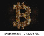 abstract technology bitcoin... | Shutterstock .eps vector #773295703