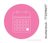 pink round month outline icon | Shutterstock .eps vector #773298697