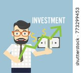 vector investment concept.  in