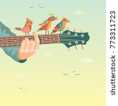 colorful music background.... | Shutterstock .eps vector #773311723