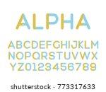 vector of modern stylized font. ... | Shutterstock .eps vector #773317633