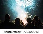 crowd watching fireworks | Shutterstock . vector #773320243