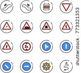 line vector icon set  ... | Shutterstock .eps vector #773321353