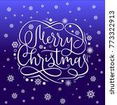 merry christmas card template... | Shutterstock .eps vector #773322913