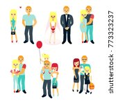 stages of family life concept... | Shutterstock . vector #773323237