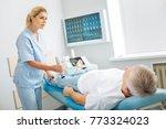 medical assistant. pleasant... | Shutterstock . vector #773324023