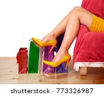 sexy woman legs in high heels... | Shutterstock . vector #773326987
