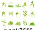 green color garden icons set | Shutterstock .eps vector #773331283