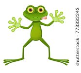 illustration a goggle eyed frog ... | Shutterstock .eps vector #773332243