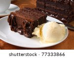 A Slice Of Chocolate Cake And...