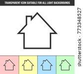 simple outline transparent...   Shutterstock .eps vector #773348527