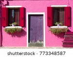 colourfully painted house... | Shutterstock . vector #773348587