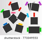 set of photo frame with color... | Shutterstock .eps vector #773349553
