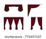 set of beautiful  silk  velvet... | Shutterstock .eps vector #773357137