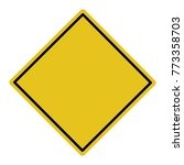 isolated blank yellow sign  ... | Shutterstock .eps vector #773358703