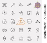outline web icon set   summer... | Shutterstock .eps vector #773358883