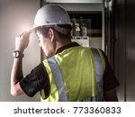 electrician or maintenance... | Shutterstock . vector #773360833