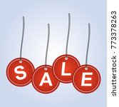 red sale icon | Shutterstock .eps vector #773378263