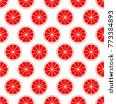 red citrus background of cut... | Shutterstock .eps vector #773384893
