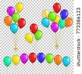 set of transparent balloons ... | Shutterstock .eps vector #773386123