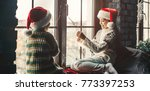 decorating home for christmas.... | Shutterstock . vector #773397253