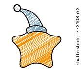 star with sleeping hat kawaii...