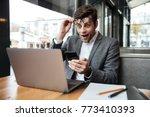 surprised business man in... | Shutterstock . vector #773410393