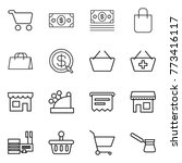 thin line icon set   cart ... | Shutterstock .eps vector #773416117