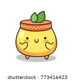 cream jar. natural cosmetic....   Shutterstock .eps vector #773416423