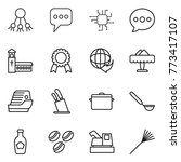 thin line icon set   share ... | Shutterstock .eps vector #773417107