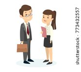 isolated managers couple on...   Shutterstock . vector #773432557