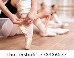 girls ballet dancers rehearse... | Shutterstock . vector #773436577