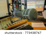 professional microphone in... | Shutterstock . vector #773438767