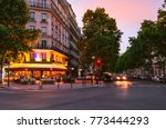 old street in paris  france.... | Shutterstock . vector #773444293