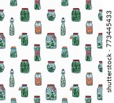 Seamless Pattern With Pickled...