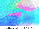 gradient background with glitch ... | Shutterstock . vector #773445757
