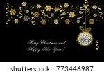 christmas and new year card ... | Shutterstock .eps vector #773446987
