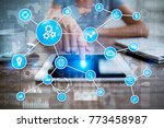 automation concept as an... | Shutterstock . vector #773458987